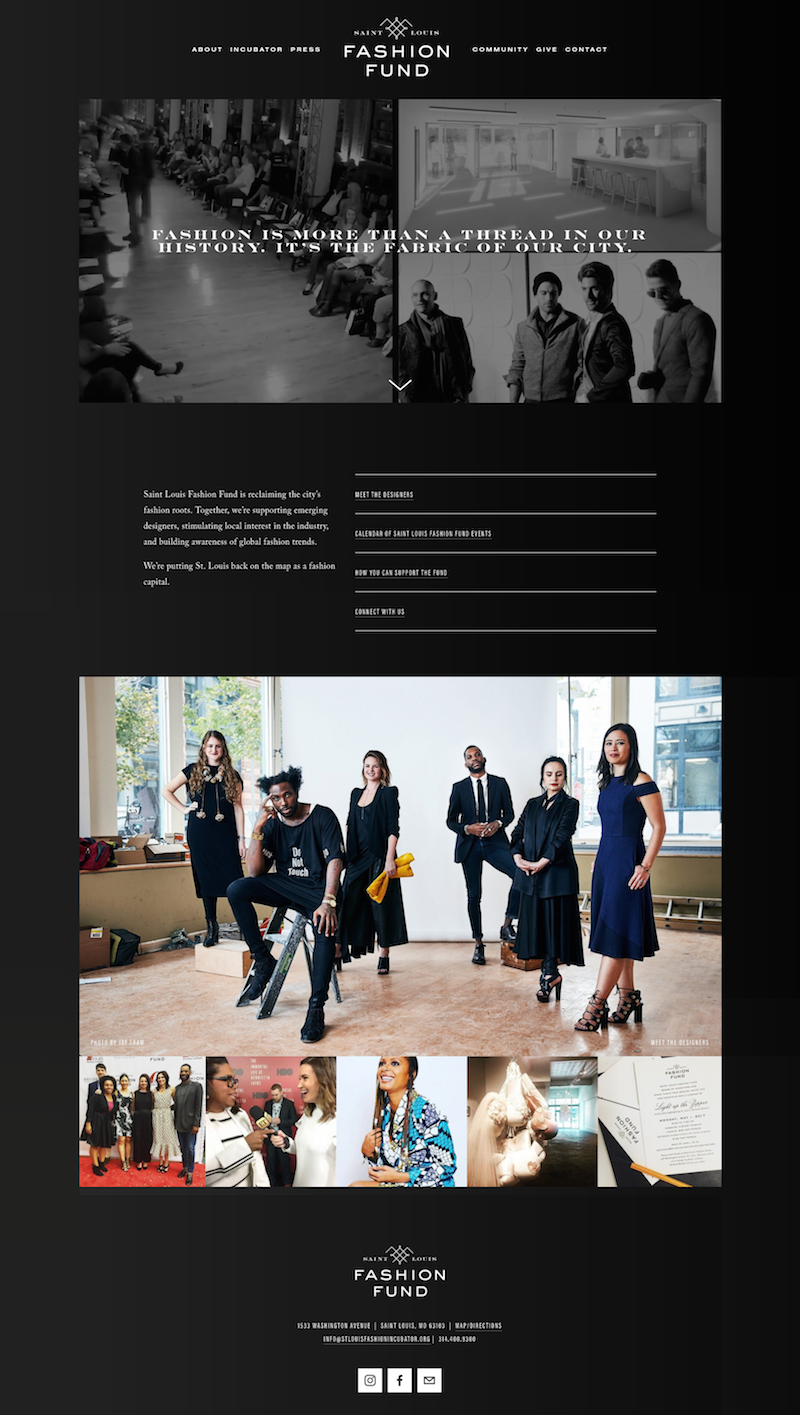 Saint Louis Fashion Fund Website