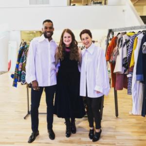 Susan Sherman with Saint Louis Fashion Incubator Designers