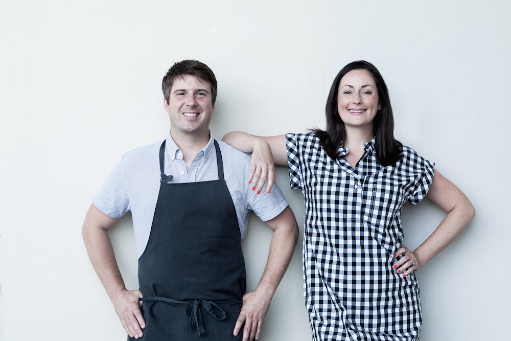 Tara and Michael Gallina, owners of Vicia restaurant in St. Louis, MO. Photograph by St. Louis Photographer Jonathan Gayman.
