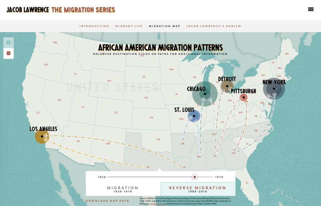 Migration Series Interactive Map