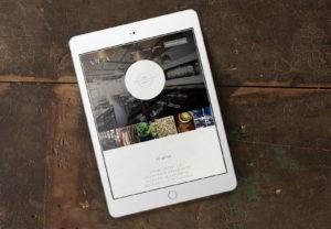 Vicia website on iPad