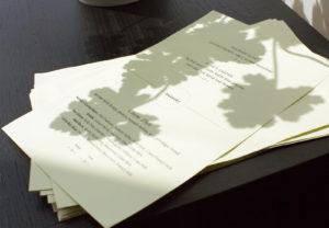 Vicia dessert menu with shadows