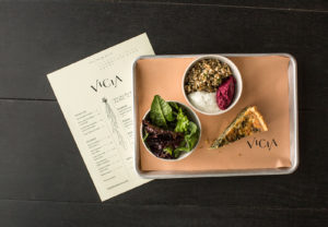 Vicia lunch and menu