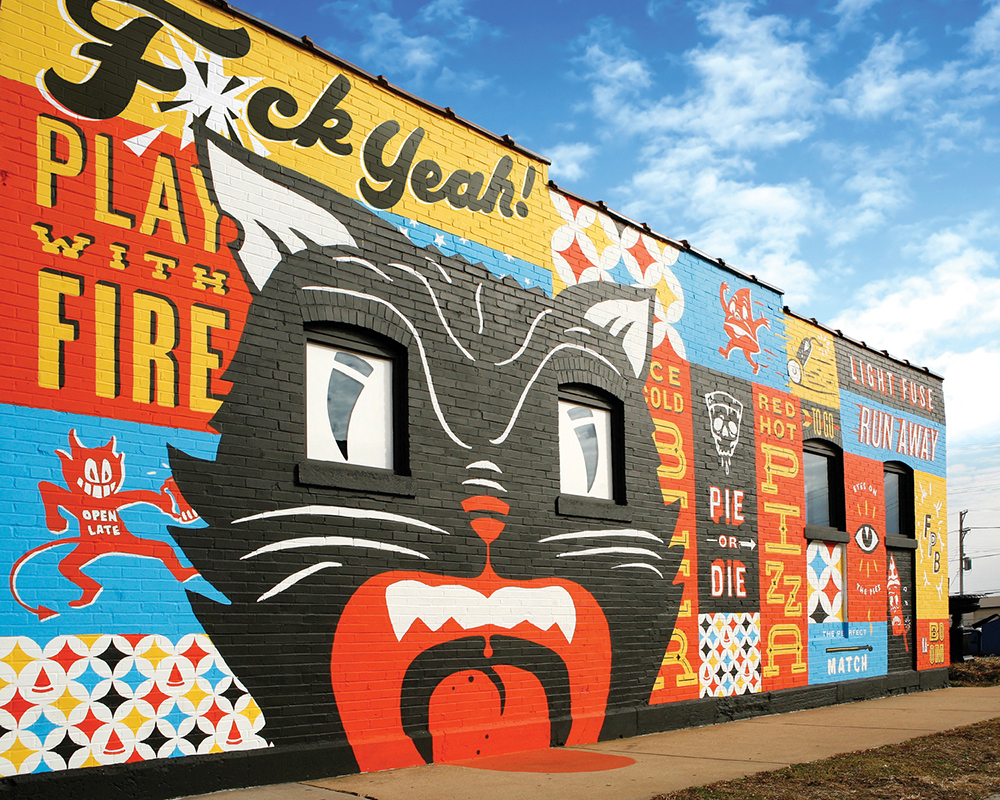 Mural for Firecracker Pizza & Beer