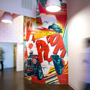 Interior mural for REO Lofts
