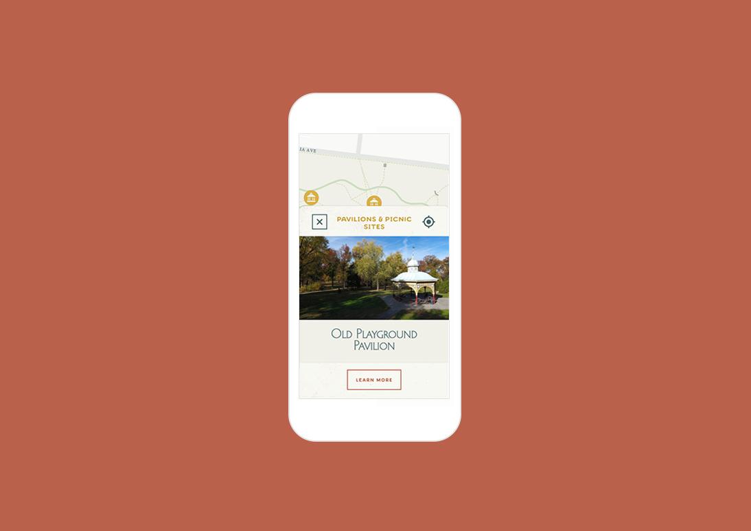 Mobile optimized park map design