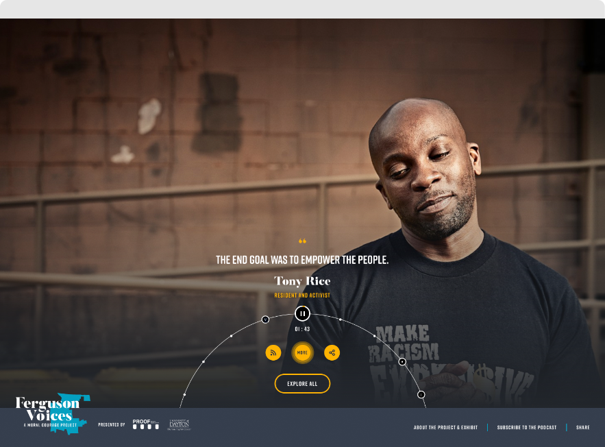 Ferguson Voices: A Moral Courage Project – Website by TOKY