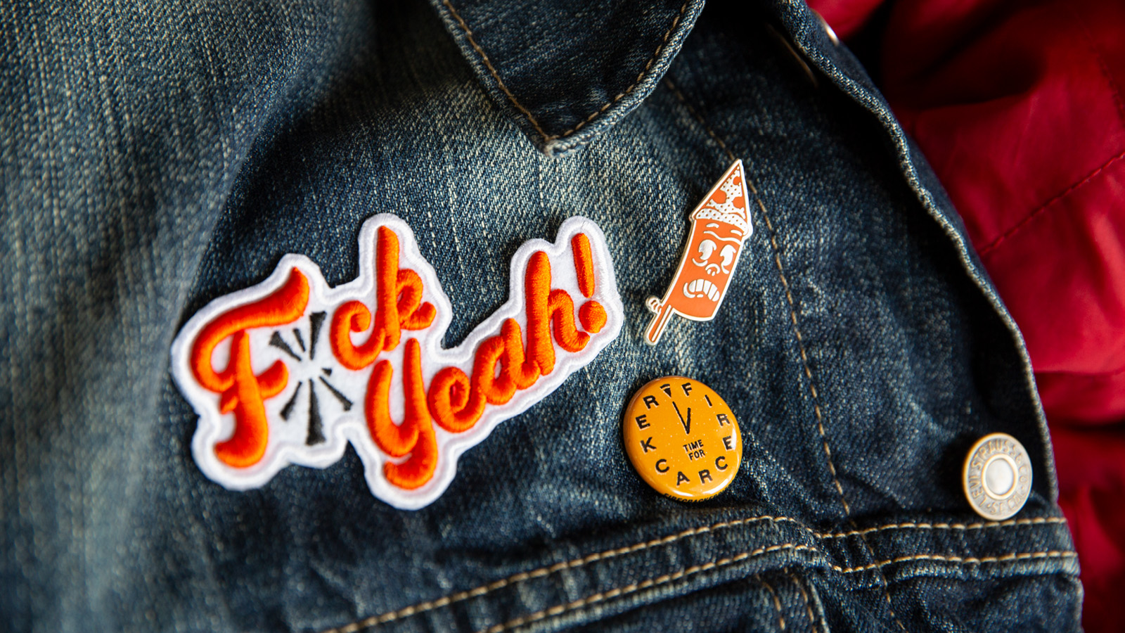 Photo of Firecracker Pizza Pins & Patches