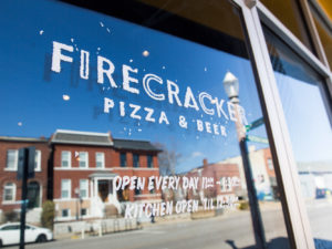 Photo of Firecracker Pizza Window Signage