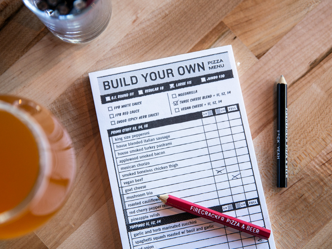 Photo of Firecracker Build-Your-Own Pizza Menu