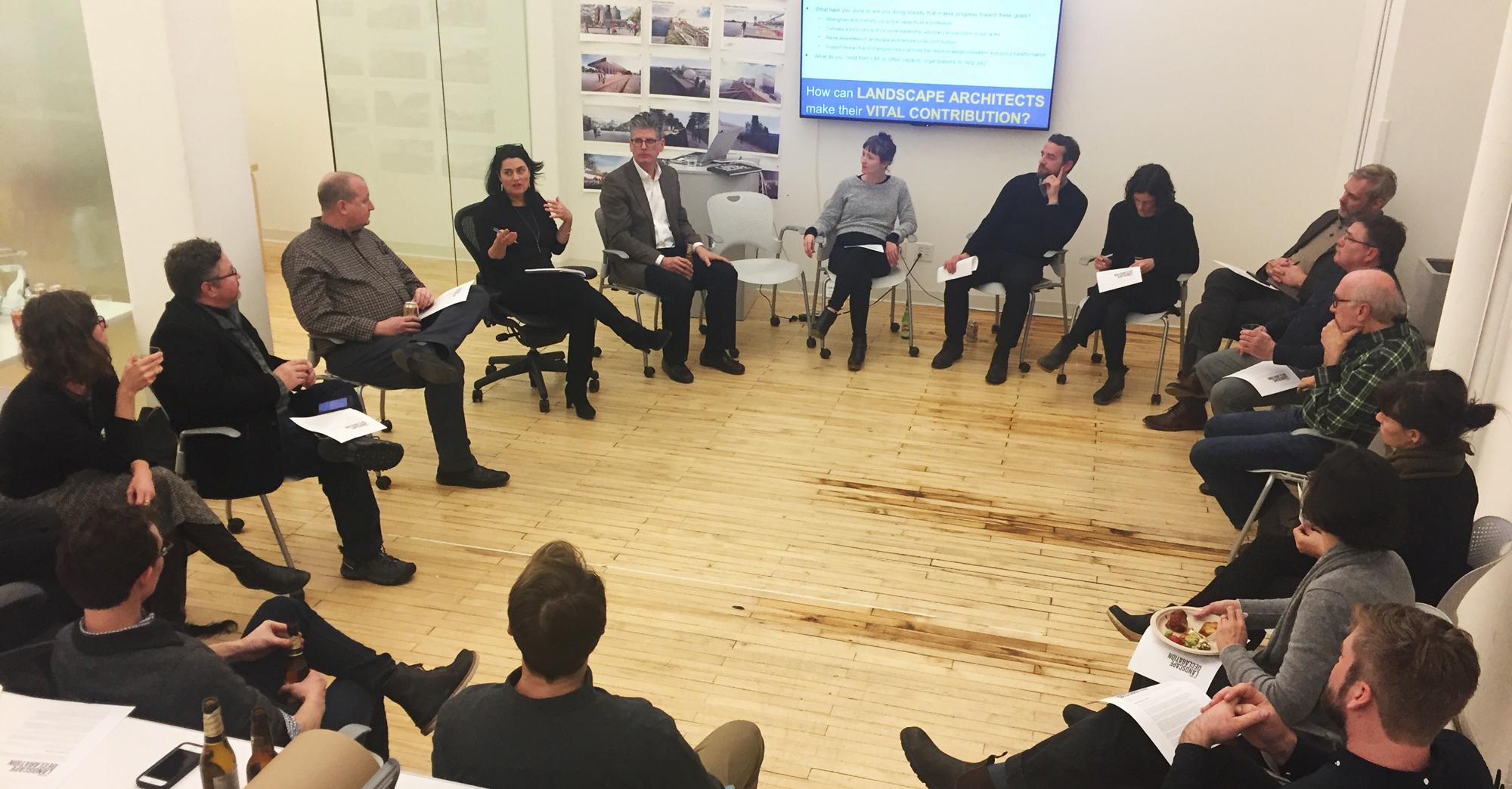 New Landscape Declaration Group Discussion