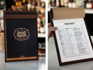 Mockup of Small Batch Drink Menu