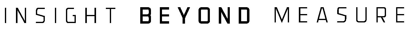 Insight Beyond Measure typeset tagline