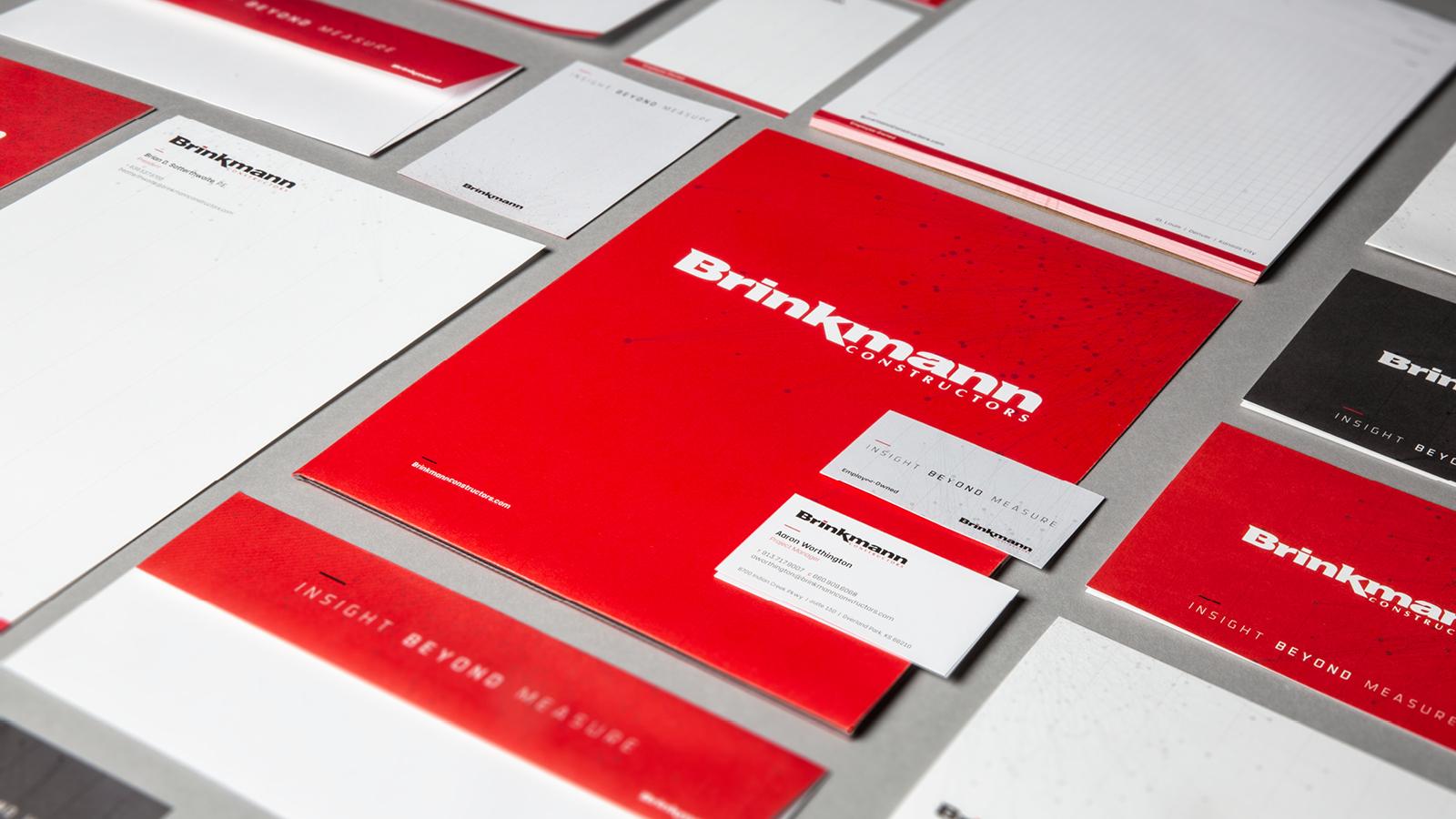 Aerial shot of Brinkmann Constructors brand materials