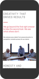 Mobile view of Brinkmann website - Creativity that drives results