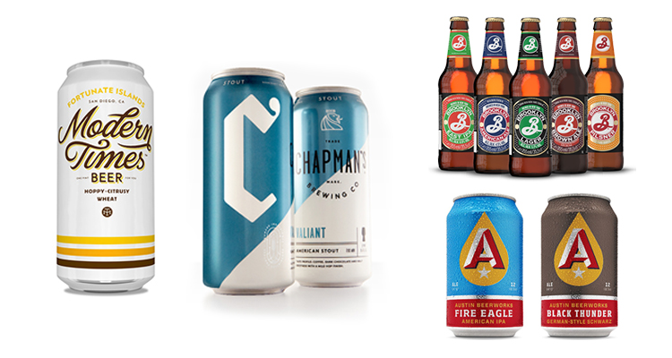 Examples of Brewery-Forward Beer Labels