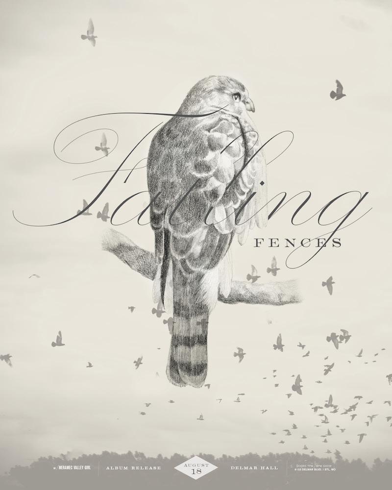 Album Release Show Poster Falling Fences II