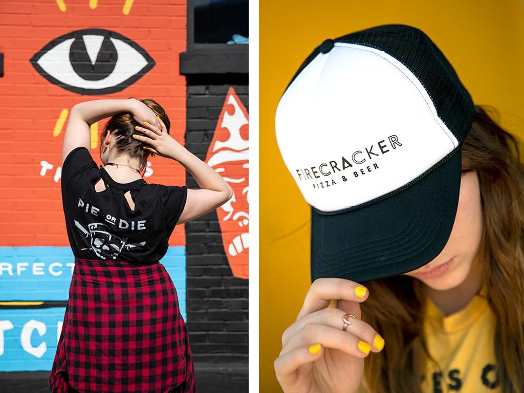 Firecracker Pizza T-Shirt and Hat