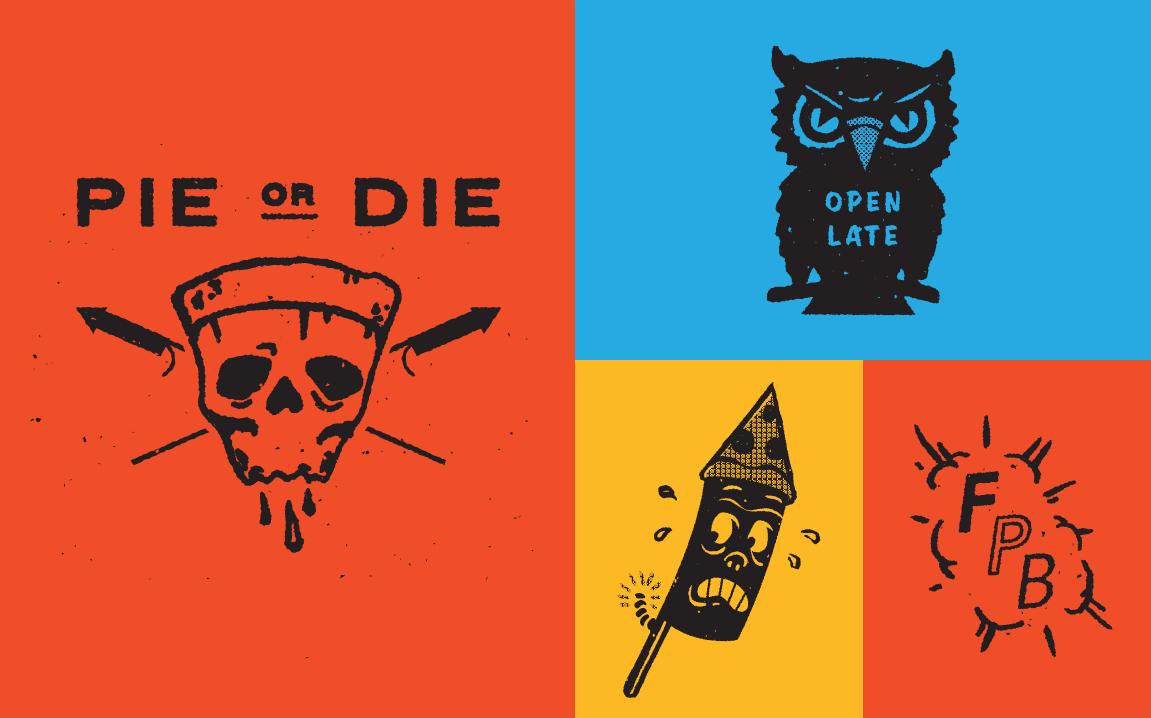 Illustrations for Firecracker Brand