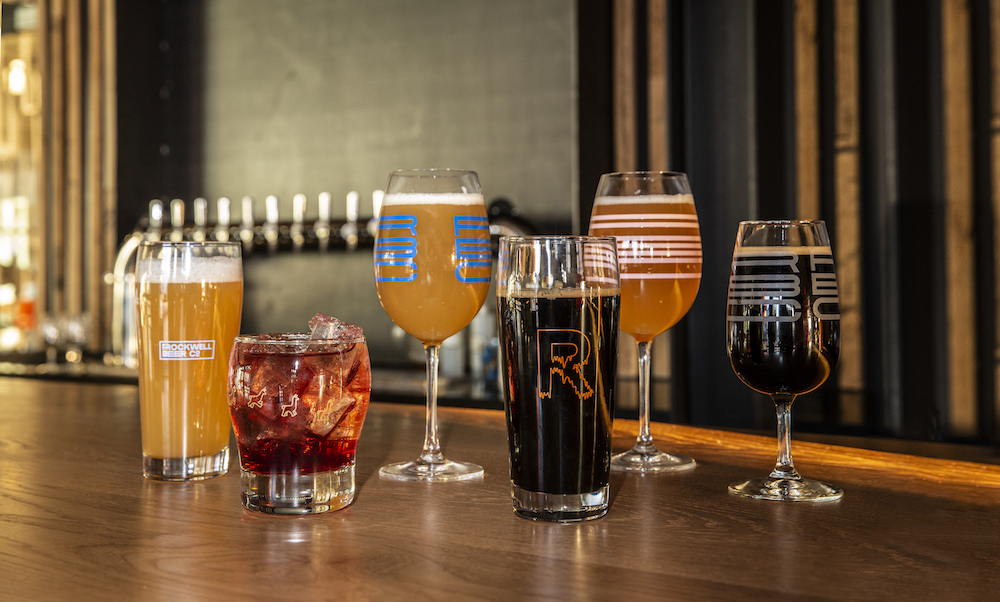 Selection of Glassware for Rockwell Beer Co.