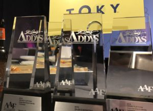 Trophies at ADDY Awards