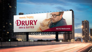 Drury Hotels billboard pets welcome
