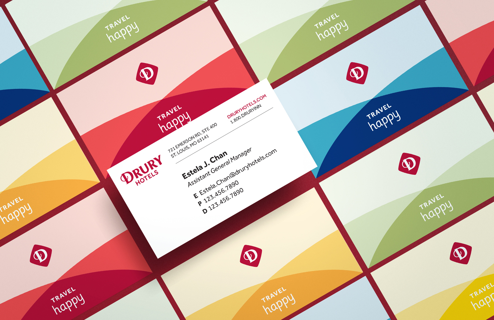 Drury Hotels Business Card Mockup