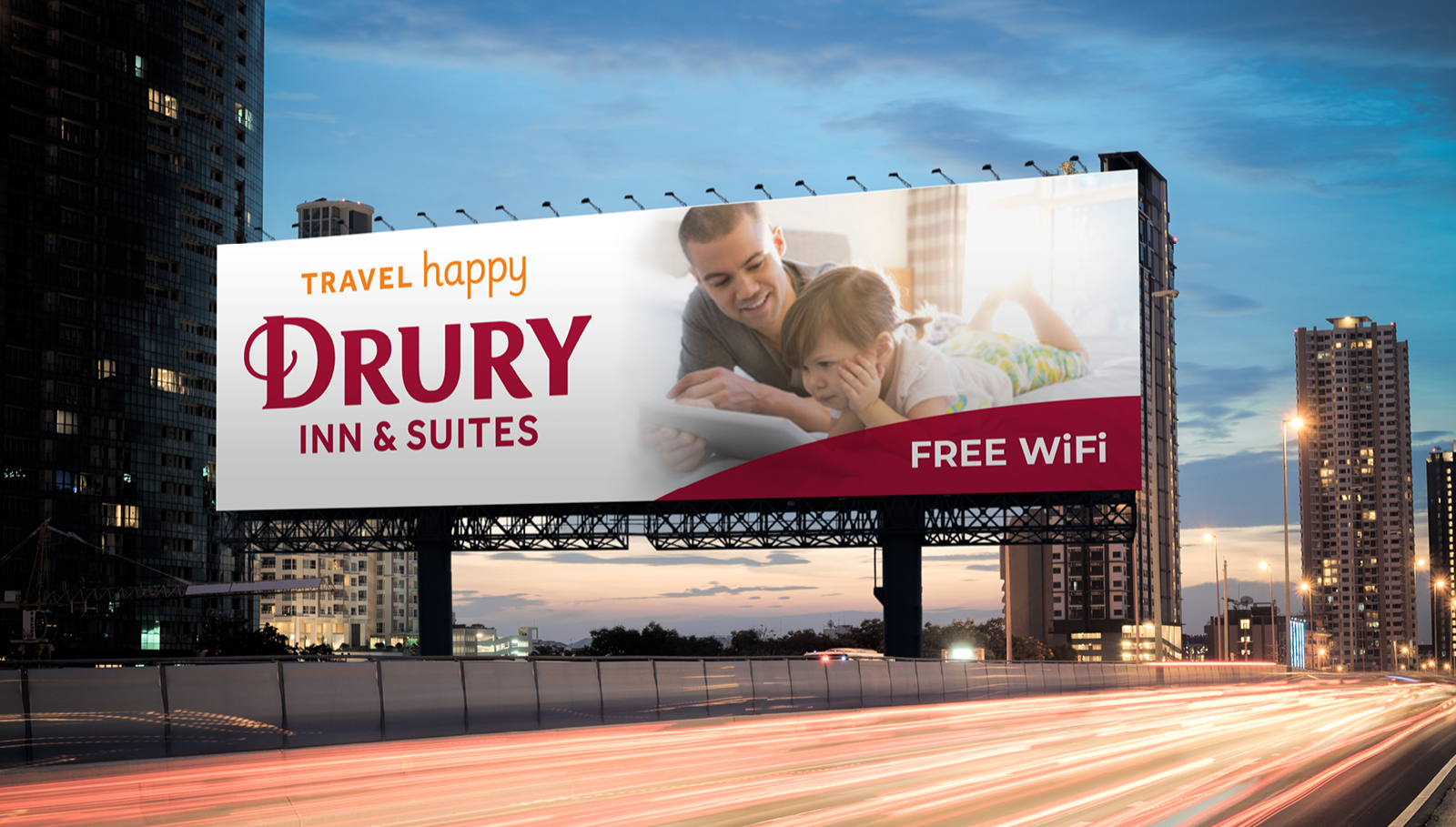 Drury Travel Happy Outdoor Board