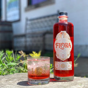 Flora cocktail on the patio