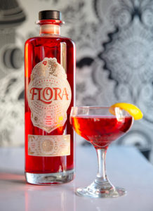 Flora Bottle and Cocktail