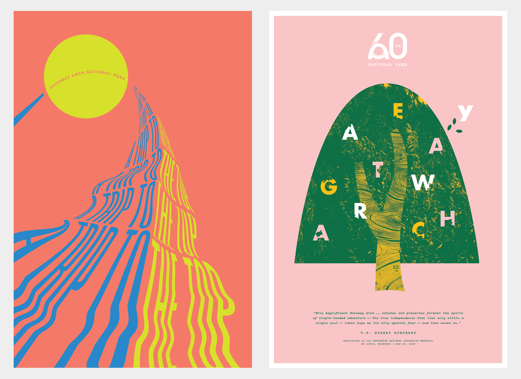 Type Hike Posters by Team TOKY