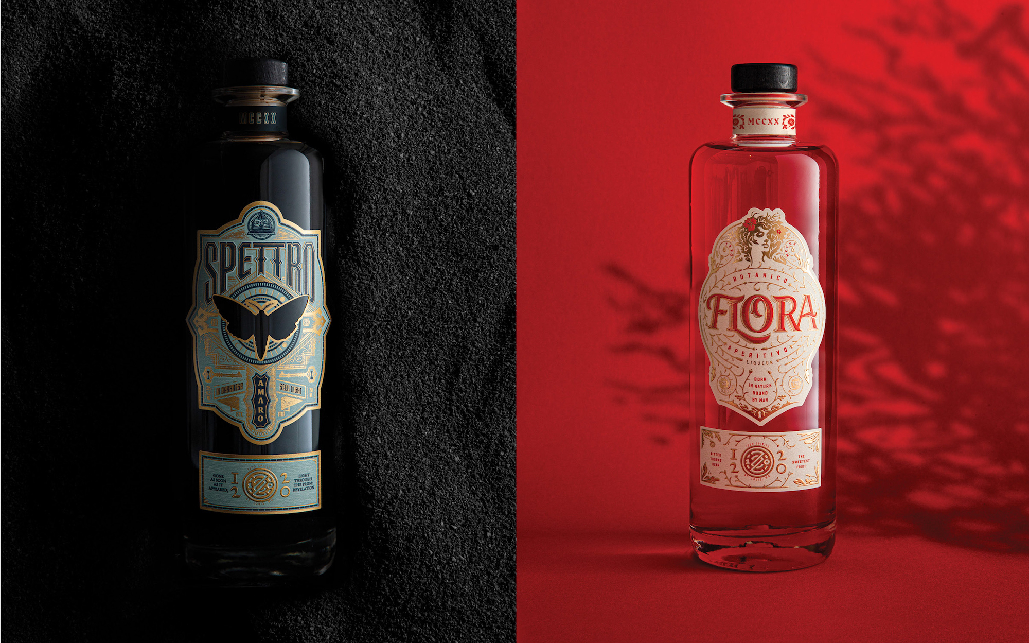 Photos of Spettro and Flora Bottles
