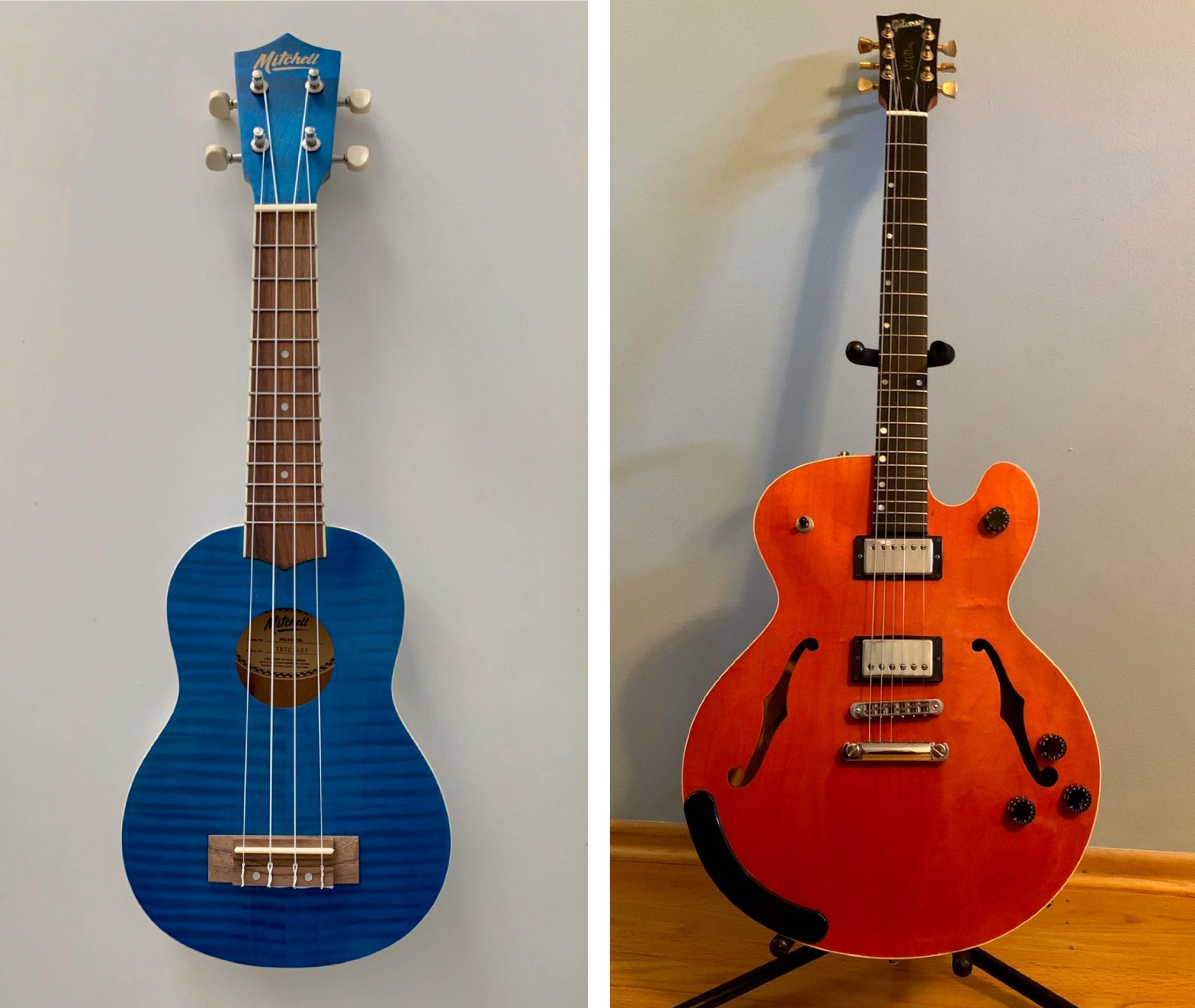 Child's guitar and Gibson Chet Atkins Tennessean