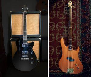 Gretch Electromatic Jet and Washburn Bass