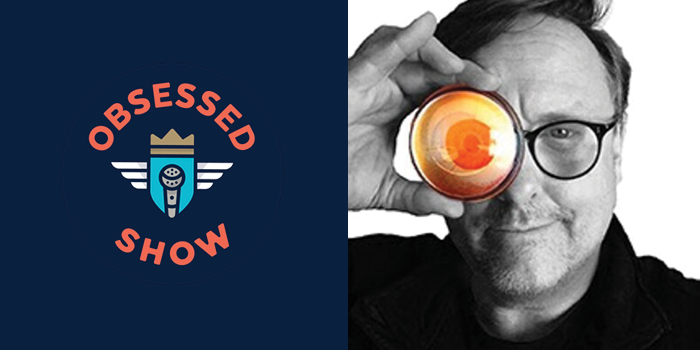 Obsessed Show Logo and photo of Eric Thoelke