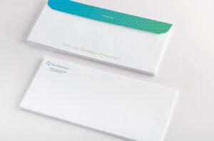 Branded RiverVest envelopes