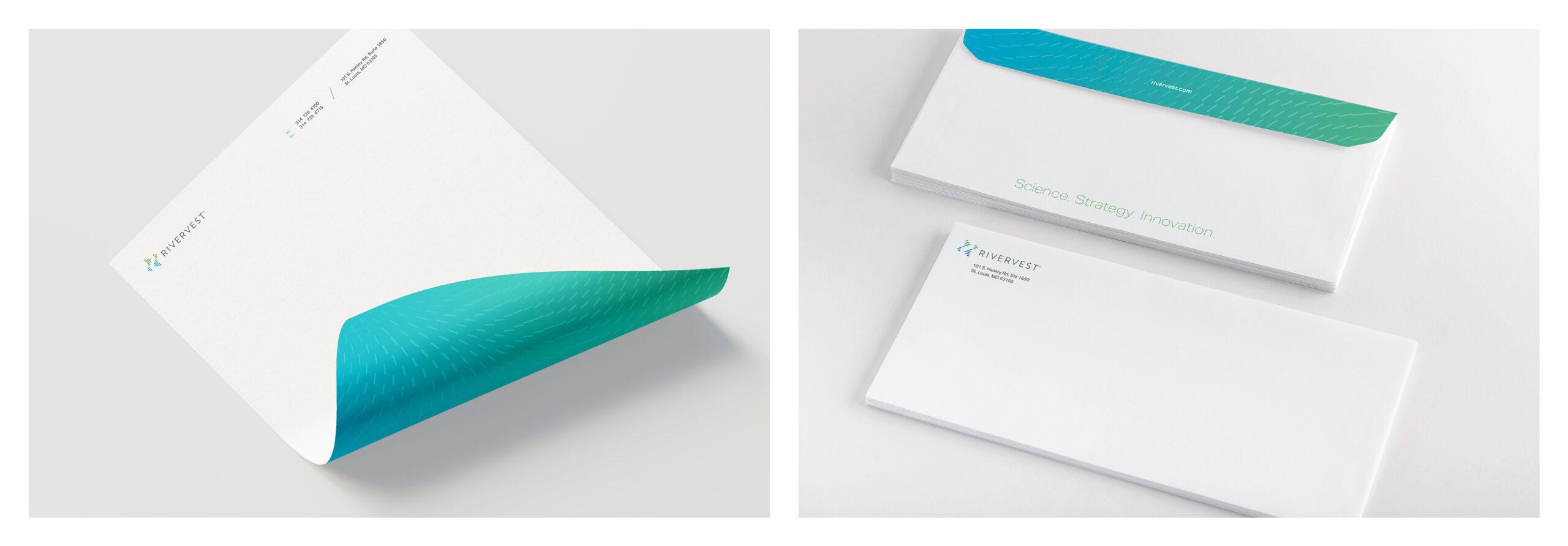 RiverVest letterhead and envelopes