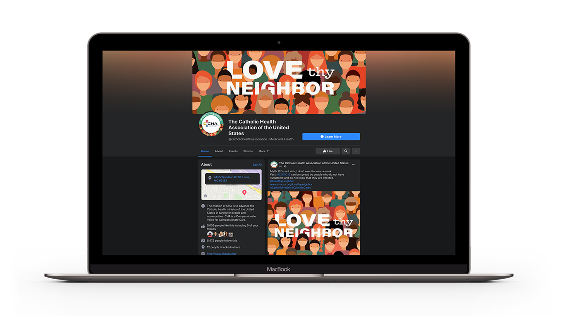 CHA Facebook Page for Love Thy Neighbor