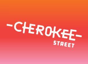 Cherokee Street Logo on Gradient