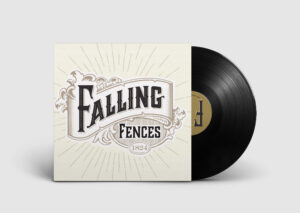 Falling Fences logo on vinyl record