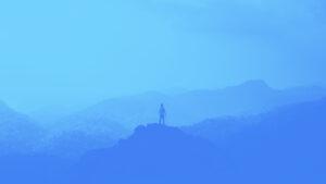 KEB blue mountain scene