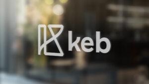 KEB logo vinyl on window