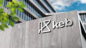 KEB exterior signage mockup