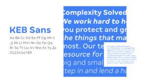KEB brand guidelines, KEB Sans
