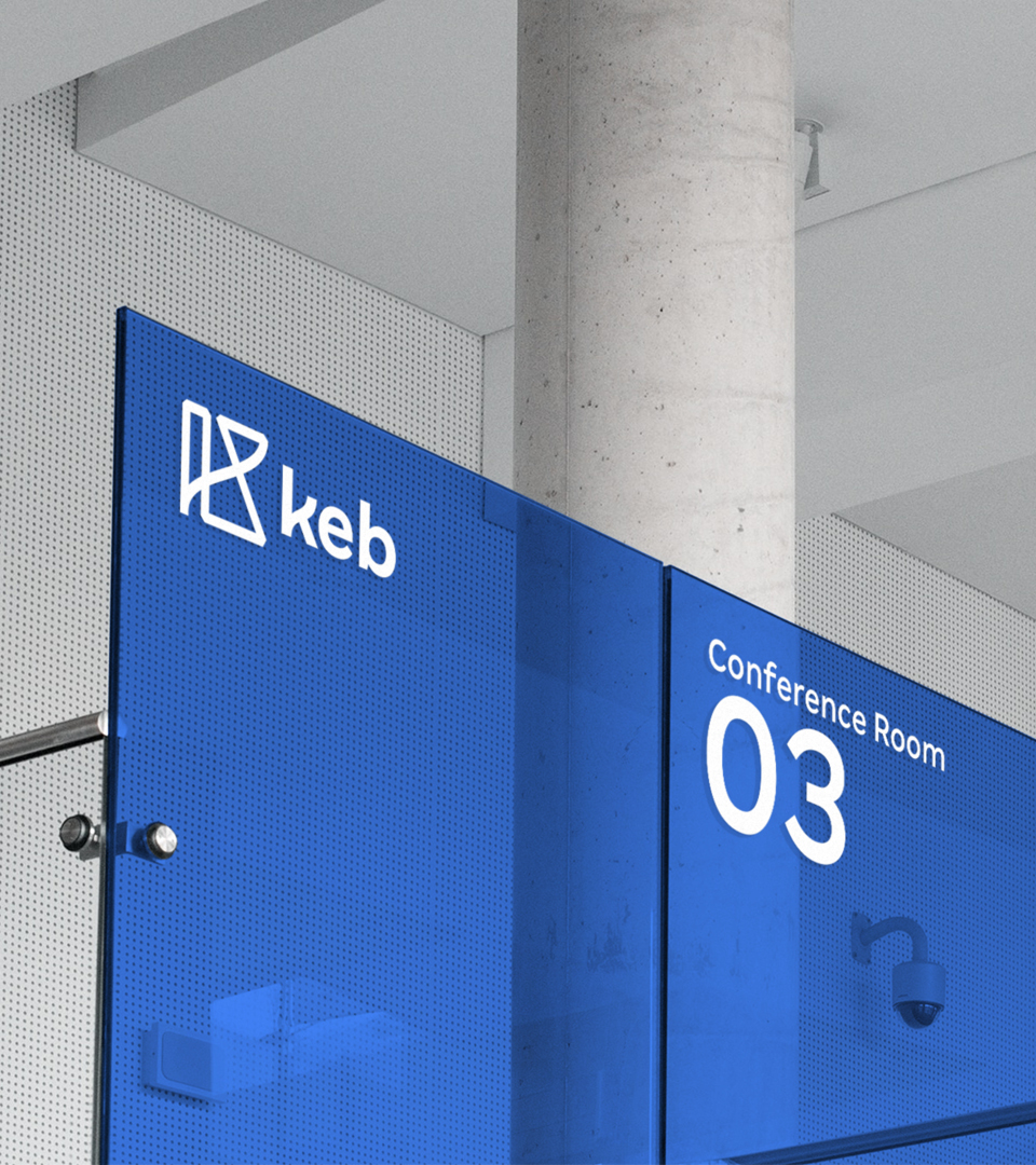 KEB conference room signage