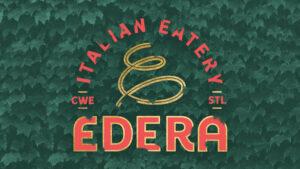 Edera logo on ivy