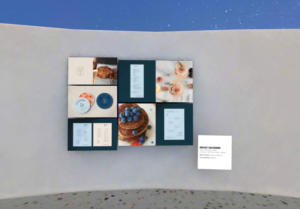 Winslow's Table branding displayed in AIGA STL Design Show virtual gallery