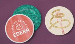 Three Edera coasters