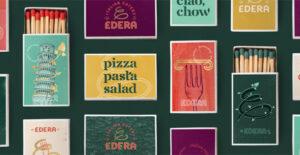 Mockup of Edera matchboxes