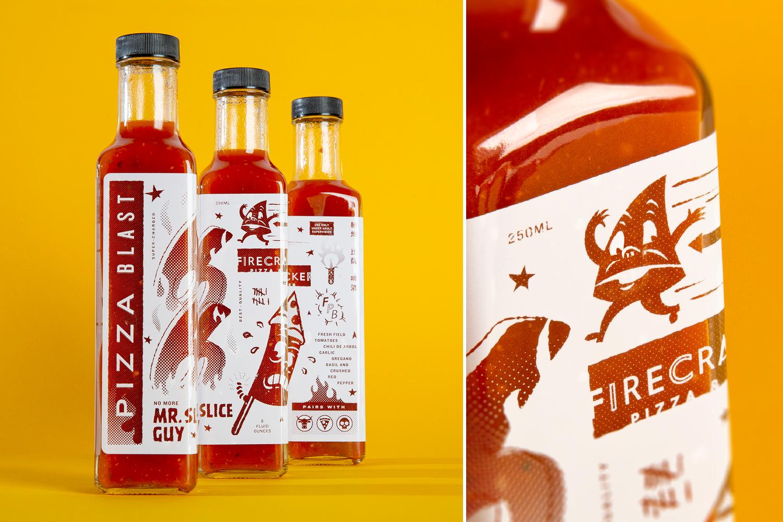 Photo of Firecracker Hot Sauce Bottles